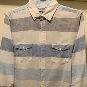 Express Mens Cotton Linen Blend Shirt